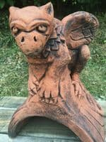 Baby Griffin Roof finial half round ridge tile